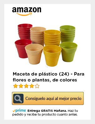 Macetas plástico flores amazon movil