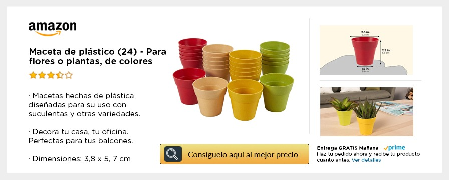 Macetas colores amazon