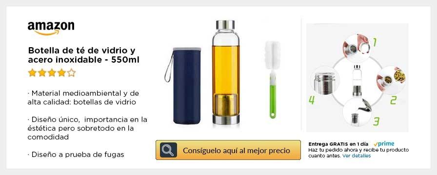 Botella de vidrio para te e infusiones naturales